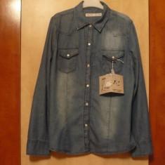 Camasa dama, Casual, Albastru, Bumbac - Camasa cu maneca lunga de dama, din jeans/blugi/denim, NOUA, LADY FIRST