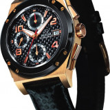 Ceas Jaguar 18 K (Aur) - Sunset; Automatic - Chronograph - Ceas barbatesc Zenith, Lux - sport, Piele, Analog