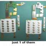 Placa membrana de sub tastatura modul taste keypad folie banda flex flexibila foita flat cable LG KE970 Originala