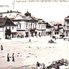 Romania, Kezdivasarhely, Targu Secuiesc, carte postala circulata1916: Centru, animat, Odorheiu Secuiesc, Fotografie