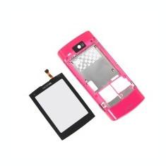 Carcasa mijloc Nokia X3-02 Touch and Type roz negru gri SH Originala touchscreen