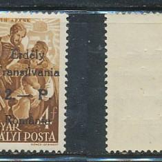 Timbre Romania, An: 1944, Nestampilat - RFL 1945 ROMANIA Posta Odorhei 2P pe 4f Kossuth neuzat fara sarniera tip II