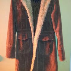 Palton iarna de dama, de la Static, marimea S, bumbac, usor folosit - Palton dama, Marime: S, Culoare: Maro