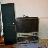 Magnetofon Tesla + 2 boxe + orga lumini