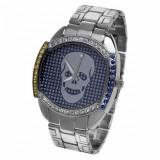 OFERTA UNICA! CEAS Geneva Gents Crystal Silver Tone Bracelet/Blue Dia