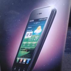 LG Optimus Sol nou + Incarcator + Cablu usb + Card 8 GB + Protectie exterioara din cauciuc + Protectie ecran - Telefon LG, Argintiu