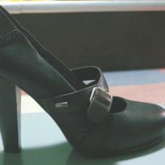 Pantofi dama Tommy Hilfinger - Pantof dama Tommy Hilfiger, Marime: 38.5, Culoare: Negru, Negru