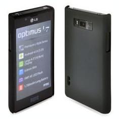 Husa Telefon - Husa protectie LG Optimus l7 p700 mesh neagra silicon rigid antiradiatii + folie protectie ecran