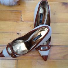 PANTOFI DOLCE GABANNA-APROAPE NOI-PRET REDUS - Pantof dama Dolce & Gabbana, Marime: 36, Culoare: Bej, Bej