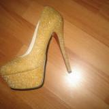 Pantofi - Mei - Pantof dama Mavi, Marime: 37, Culoare: Auriu, Auriu
