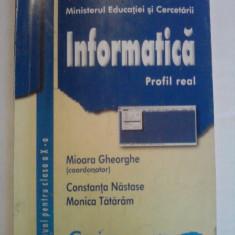 Manual de Informatica ( profil real), Clasa a X -a - Mioara Gheorghe - Manual scolar corint, Clasa 10, Corint