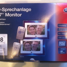 Interfon cu camera video si doua monitoare lcd,, Tur-Sprechanlange mit 7'' Monitor ''