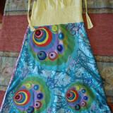 Rochita vara multicolora, Cu bretele, Bumbac