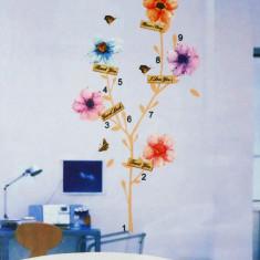 Sticker - autocolant de perete, model Copac flori pictate