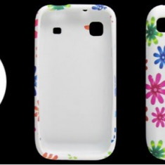 Husa florala cool flower power samsung galaxy s i9000 gel silicon cover + 2 x folie protectie ecran + expediere gratuita - Husa Telefon