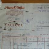 Factura, FRANCK - CAFEA, BUCURESTI - Pasaport/Document, Romania pana la 1900