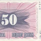 BOSNIA HERTEGOVINA 50 DINARI 1992 HE6752 aUNC, Europa