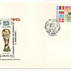 Plic omagial L.P.1234 -Preliminariile C.M. de Fotbal Italia 90