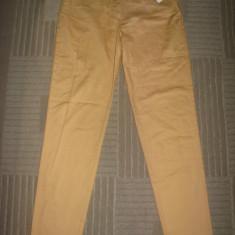 Pantaloni dama LAUREL by ESCADA, noi, bumbac, made in Italy, marimea 38, Culoare: Orange, Lungi