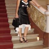 Rochie de ocazie alb-negru - Rochie de seara, Marime: L, Culoare: Din imagine
