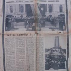 MOARTEA LUI GHEORGHE GHEORGHIU DEJ - ZIARUL SCANTEIA - JOI 25 MARTIE 1965