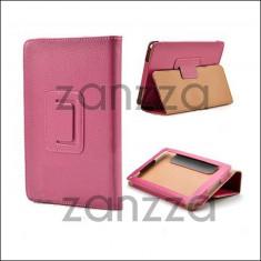 Husa Kindle FIRE piele roz STAND