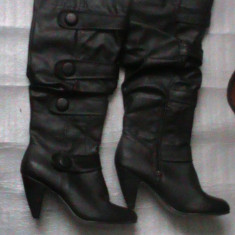 Cizme lungi, peste genunchi, maro roscat - Cizme dama, Marime: 39