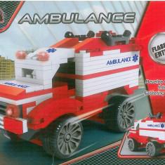 CONSTRUCTII - AMBULANTA - 190 PIESE TIP LEGO - JUCARIE COPII 2564 - NOU - Jocuri Seturi constructie, 6-8 ani, Unisex