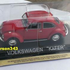 Macheta auto, 1:43 - Macheta metal DeAgostini - Volkswagen Kafer (Broscuta) - NOUA, SIGILATA din colectia Masini de Legenda, Scara 1:43