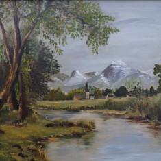 Tablou, Impresionism - Pictura in ulei pe lemn