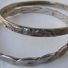 2 Bratari vechi placate cu argint