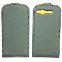 Toc / husa neagra piele ecologica HTC Desire S - Livrare in 24h, Negru