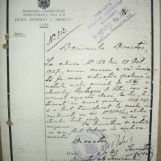 Seminarul Pedagogic Universitar - Lot 4 documente ( 1926-1928) - Hartie cu Antet