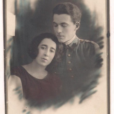 Foto-Militar cu logodnica - anul 1925 - Fotografie