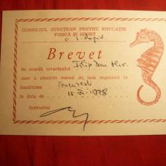 Brevet pt. inot acordat de C.S.Rapid 1978