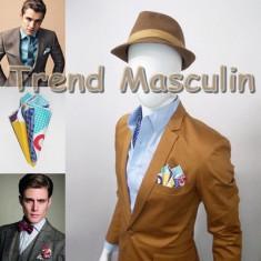Batista Barbati - Batista de Buzunar Fashion Alba Buline Mari Color