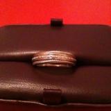 Inel diamant - Inel aur alb cu 25 de diamante