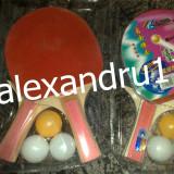 Paleta ping pong - Paleta palete tenis masa ping pong set 2 palete cu 3 mingi Pret set 10 lei