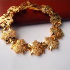 Bratara placate cu aur, Femei - LIVRARE GRATUITA !!! - ELEGANTA BRATARA 24K GOLD FILLED, PUNGUTA ELEGANTA CADOU