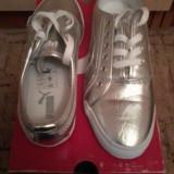 Adidas PUMA - Adidasi dama Puma, Marime: 39, Culoare: Argintiu, Argintiu