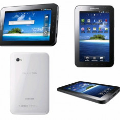 Vand tableta Samsung Galaxy Tab 1 in stare foarte buna cu husa de piele, incarcator si casti 1200 negociabil, fara schimburi - Tableta Samsung Galaxy Tab P1000, 8 GB, Wi-Fi