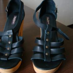Sandale noi Pepe Jeans - Sandale dama Pepe Jeans, Marime: 37, Culoare: Negru, Negru