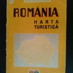 Harta turistica a Romaniei, emisa de Oficiul National de Turism (O.N.T.) 1939 - Harta Romaniei