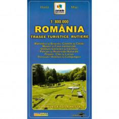 Harta Turistica - Grai Harta Romania - Trasee turistice rutiere