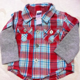 Bluza cu maneca lunga M&Co Baby Copii 0-3 Luni Import UK