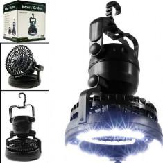 Lampa cu 18 Leduri Si Ventilator Happy Camper