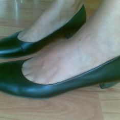 Pantofi dama, Marime: 39, Negru - Pantofi din piele marimea 41, sunt noi!