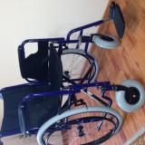 Fotoliu rulant pliabil cu actionare manuala - Scaun cu rotile