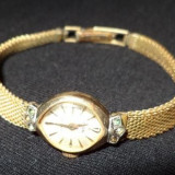 Ceas dama, Elegant, Mecanic-Manual, Placat cu aur, Placat cu aur, Analog - Ceas de dama, ''MOD'', E.B. Swiss Made, placat aur