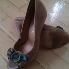 SUPERBE Sandale piele intoarsa ~ bej ~ BENVENUTI ~ mar. 37 - Sandale dama